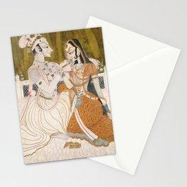 Krishna and Radha (painting c. 1750) Stationery Cards