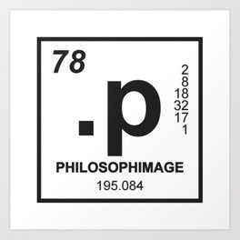 philosophimage logo t Art Print
