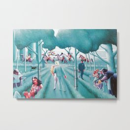 Sunday in the Park by Archibald Motley Metal Print