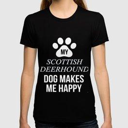 My Scottish Deerhound Makes Me Happy T-shirt