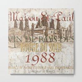 Bordeaux Blanc 1 Metal Print