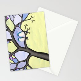 tree swallows in the stained glass tree Stationery Cards