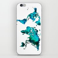 world maps iPhone & iPod Skins featuring maps by StraySheep