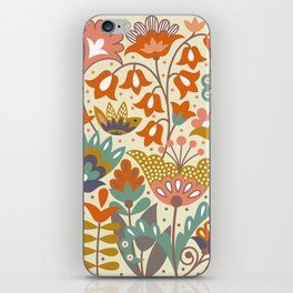 Forest flowers iPhone Skin