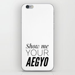 Show My Your Aegyo iPhone Skin