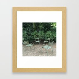 Chairs in the Luxembourg Gardens Framed Art Print
