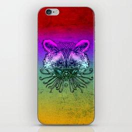 Cool Raccoon Color iPhone Skin
