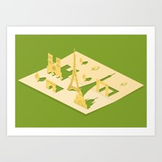 paper paris Art Print