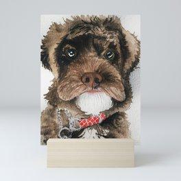 Fluffy Doggo Mini Art Print