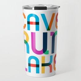 Cave Run Lake Color Pop Art Travel Mug