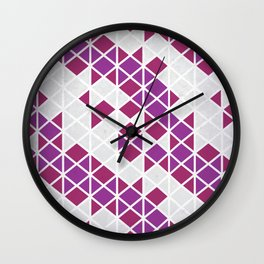 Purple Angles Wall Clock