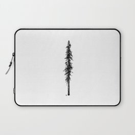 Love in the forest - a couple and their dog under a solitary, towering Douglas Fir tree Laptop Sleeve