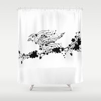 sparrow Shower Curtains featuring Sparrow by Cristian