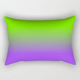 Neon Purple and Neon Green Ombré  Shade Color Fade Rectangular Pillow