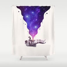 Space Within Shower Curtain