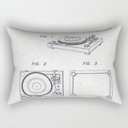 Record player 1979 Rectangular Pillow