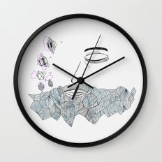 Geometric beard Wall Clock