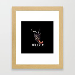 Krampus Believer Gruss Vom Merry Christmas Demon Framed Art Print