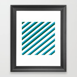 TEAM COLORS 1...LIGHT BLUE,GREEN Framed Art Print