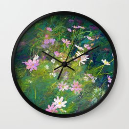 Flowers of my soul Wall Clock