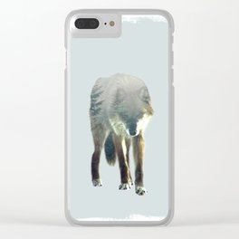 Call of the Wolf Clear iPhone Case