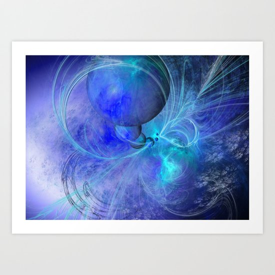 CREATING BLUE PLANETS Art Print