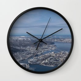 Winter City Wall Clock
