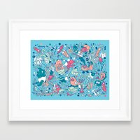 bubble Framed Art Prints featuring bubble by Anukun Hamala (NHD)