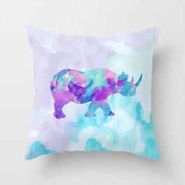 Abstract Rhino B Throw Pillow