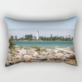 Beach with a view Rectangular Pillow