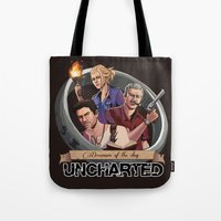 uncharted Tote Bags featuring Dreamers of the Day by Sketchy-Nic