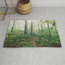 Smoky Mountain Forest Adventure - National Park Nature Photography Rug
