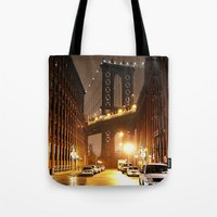 brooklyn Tote Bags featuring Brooklyn by Rochana Dubey