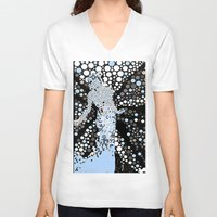 butterfly V-neck T-shirts featuring Butterfly  by Saundra Myles
