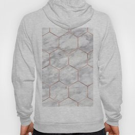 Marble rose gold hexagons Hoody