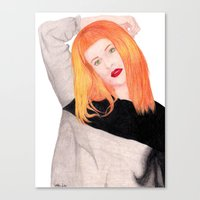 hayley williams Canvas Prints featuring Hayley Williams by Natalie Huber