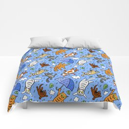 Cat Pattern | It is raining cats and dogs Comforters