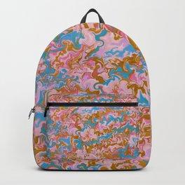 Rose Quartz & Gold Marble Backpack