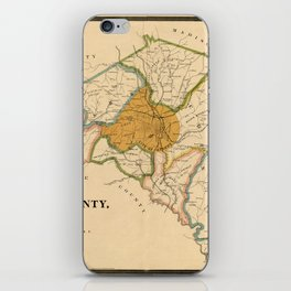 Map Of Athens Georgia 1893 iPhone Skin