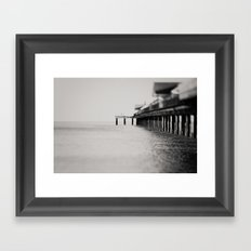 through the blur of her tears ... Framed Art Print