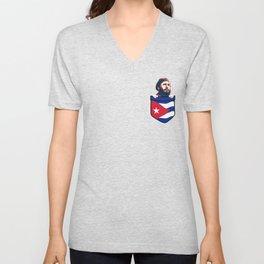 Copy of Fidel Castro Cuba Chest Pocket Unisex V-Neck