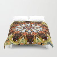 southwest Duvet Covers featuring southwest pattern by North 10 Creations