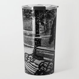 Walking in the cold night Travel Mug