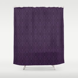 Purple Stag Damask Shower Curtain