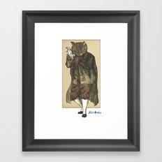 Tambourine Cat Framed Art Print