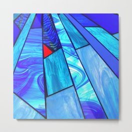 The Art of Stained Glass Metal Print