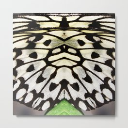 MALABAR TREE NYMPH MIRRORED WING Metal Print