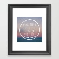 I. Music fills the infinite Framed Art Print