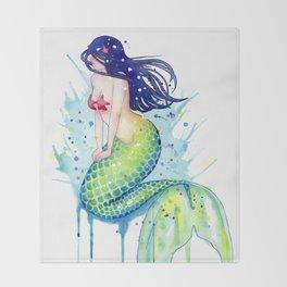 Mermaid Splash Throw Blanket