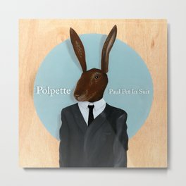 Paul Pet In Suit Metal Print